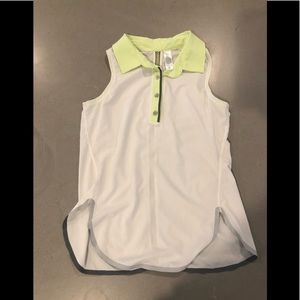 Girl ivivva size 12 collared/golf tank top!